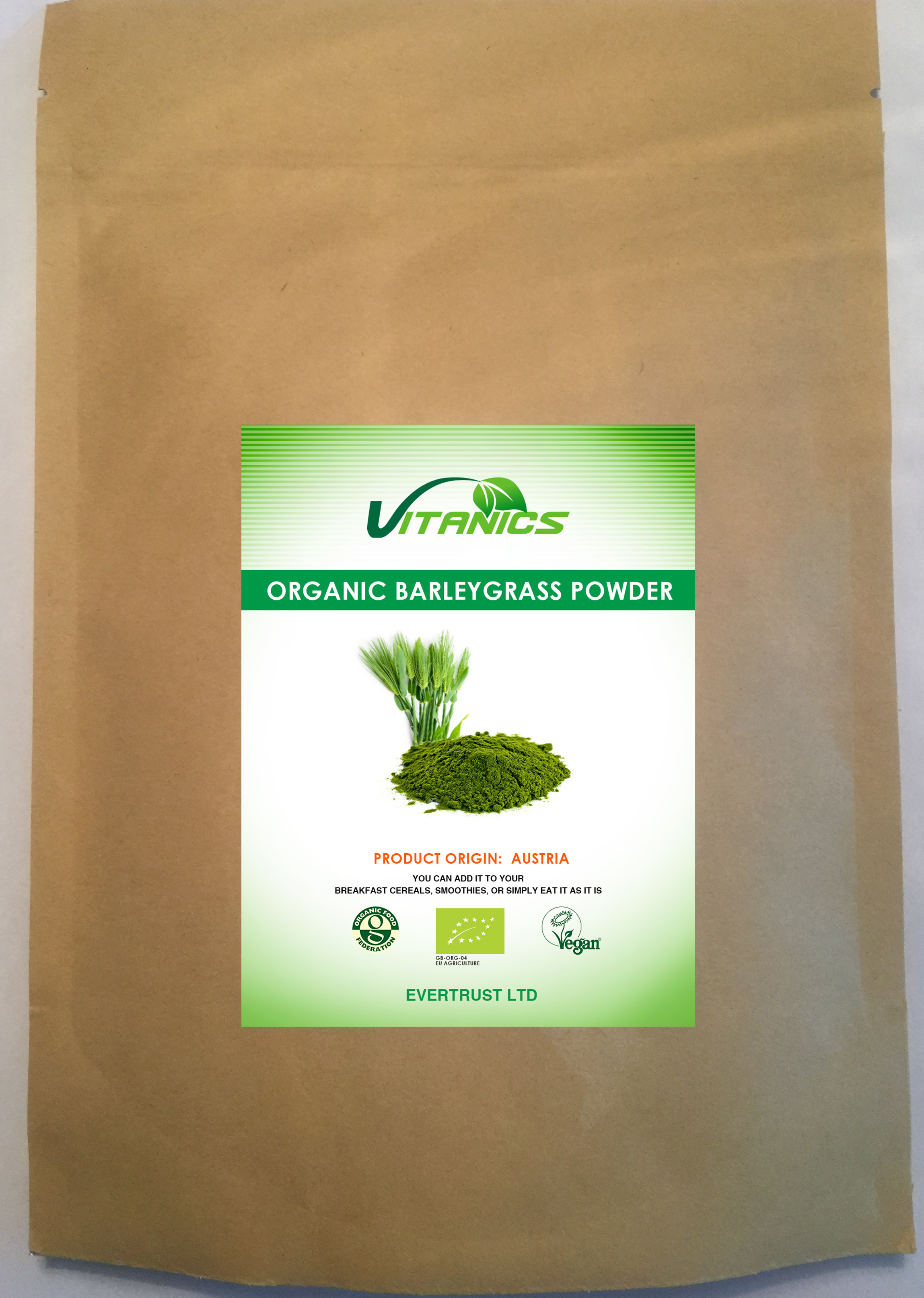 Organic Wheatgrass Powder EU 500g