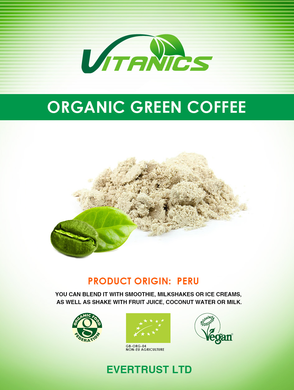 Green Coffee Powder Organic 200g