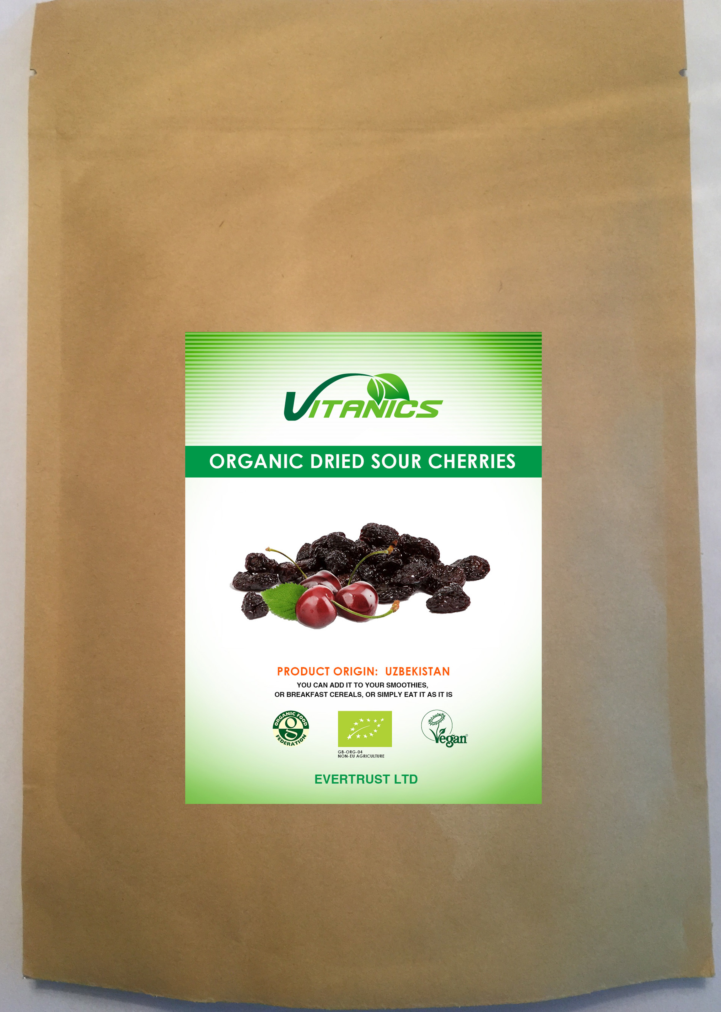 Organic Dried Sour Cherries 1kg